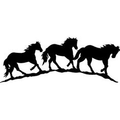 horse trail rider silhouette | SX400510 - STICKERS - Greg Grant Saddlery
