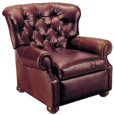 Ethan Allen Cromwell Leather Recliner  --  It's an $1800 dollar chair -- and it's exactly what I envision the husband liking to sit in ....unfortunately, we have a lazy-boy budget...