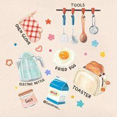 티라미수와 퍼피케이크들🍰🐶 카페 메르시포펫 @merci_forpet 에서 의뢰 주셔서 작업한 그림이에요😊 너무 예쁜 티라미수와 귀여운 퍼피케이크들을 맘껏 그릴 수 있어서 작업하는 내내 행복한 시간이었습니당✨ . 클래스 101의 알림신청과… Cute Food Art, Cute Art, Food Art Painting, Recipe Drawing, Cute Food Drawings, Illustration Art Drawing, Sketch Design, Food Illustrations, Cute Stickers