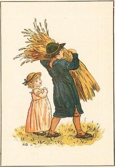 August - Kate Greenaway's Almanack for 1894