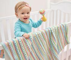Rock Candy Knit Blanket Pattern | AllFreeKnitting.com