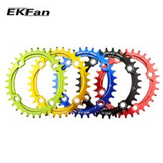 New EKFan Bicycle Chainring Narrow Wide Round Oval Cycle Chainwheel MTB Bike Circle Crankset Plate Bmx Sprocket, T 34, Bicycle Components, Bike Parts, Mtb Bike, Cool Bicycles, Cycling, Plates, Daily Deals