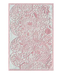 Look what I found on #zulily! Pink Lacy Rug by The Rug Market #zulilyfinds