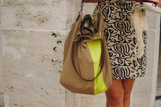 neon stripe bag