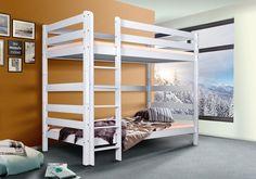 Masívna poschodová posteľ z buku Oliver 2