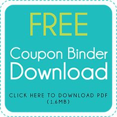 Super cute coupon binder printables    I love this! I'm going to get my coupons organized!
