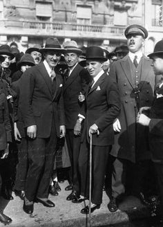 Georges Carpentier and Charlie Chaplin 1921