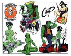 Comic Books Art, Comic Art, Acid Wallpaper, Pin Up Girl Tattoo, Cartoon Tattoos, Tattoo Flash Art, Garage Art, Sexy Cartoons, Grafik Design