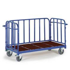 GTARDO.DE:  Dreiwandwagen, Tragkraft 1200 kg, Ladefläche 1600x840 mm, Maße 1940x880 mm, Rad-Ø 200 mm 637,00 €
