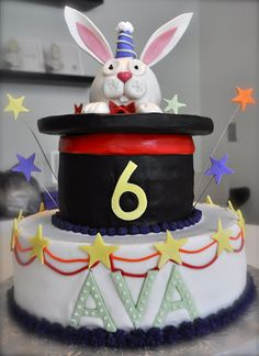 Delicious looking and colorful Rabbit from Black Top Hat cake. Thanks, MegMadeCakes, for permission to pin your image.