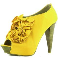 Amazon.com: Women's Qupid Figure-39X Platform Fabric Rose Ruffe Peep Toe Pump Shape Ankle High Booties Sheos Fashion Shoes: Shoes
