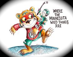 Where The Minnesota Wild Things Are by JamesPowellArt on Etsy