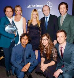 images of big bang theory cast at alzhimer benifit -2014