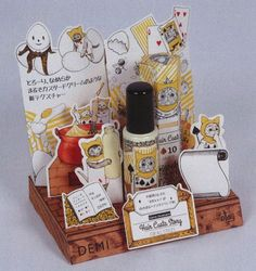 Alice in Wonderland style product display is too cute! Demi Cosmetics hair styling custard with illu. Pos Display, Display Design, Booth Design, Product Display, Cosmetic Packaging, Brand Packaging, Box Packaging, Cosmetic Display, Cosmetic Design