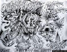 Gangsta Boog Tattoo Design photo - 1