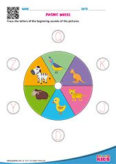 Kindergarten phonic sounds worksheets that help kids to trace the letters of the beginning sounds of the pictures. Useful for kids in learning words. English Worksheets For Kindergarten, Preschool Writing, Worksheets For Kids, Math Worksheets, Printable Worksheets, Free Printable, Phonics Sounds, English Phonics, Fun Learning
