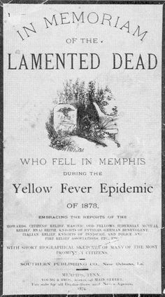 Yellow Fever Epidemic. Vintage Circus, Vintage Ads, Fever Book, State Of Tennessee, Yellow Fever, Plague Doctor, Medical History, Interesting History, Memento Mori