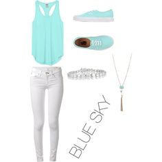 BLUE SKY by trinity0319 on Polyvore featuring polyvore, fashion, style, Victoria's Secret PINK, rag & bone, Vans and Collette Z