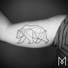 New Minimalistic Single Line Tattoos by Mo Ganji | Colossal