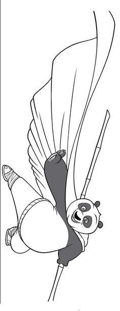 Kung Fu Panda Tegninger til Farvelægning. Printbare Farvelægning for børn. Tegninger til udskriv og farve nº 52