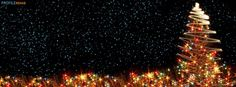 Christmas Tree Lights Facebook Cover. via Profile Rehab #coverpages #christmas #christmascoverpages