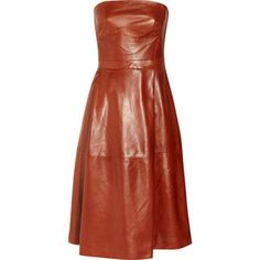 gucci strapless leather dress - would love to be able to pull this off