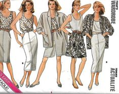 Butterick 5597 Misses Jacket, Top, Skirt And Shorts Pattern, Today's Wardrobe, 14-16-18, UNCUT