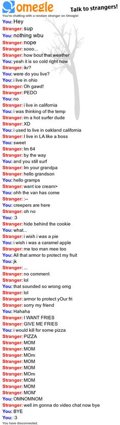 THE RANDOMNESS THAT CAN BE OMEGLE!!