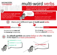 multi-word verbs, English Grammar