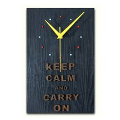 Zlyc Vintage Black Motivational Poster Keep Calm and Carry on Retro Decorative Rectangle Wall Clock Home Decor ZLYC http://www.amazon.com/dp/B00KCI6ZYU/ref=cm_sw_r_pi_dp_LsMLtb0TEEKV5QTX