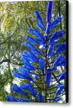 Blue Bottle Tree Stretched Canvas Print / Canvas Art By Warren Thompson bottle crafts Blue Bottle Tree Canvas Print / Canvas Art by Warren Thompson Blue Bottle, Bottle Art, Tree Canvas, Canvas Art, Wine Bottle Crafts, Wine Bottle Trees, Bottle Lights, Bottles And Jars, Glass Bottles
