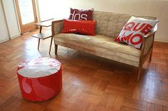 PVC Advertising Banners Reuse Cushions and Puff Photo