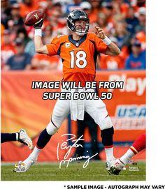 """Peyton Manning Denver Broncos Autographed 8"""" x 10"""" Super Bowl 50 Champions Action Photograph"""