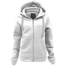 Ladies Womens Plain Colour Hoodie zip sweater hood plus size (UK 8-22) ($2.94) ❤ liked on Polyvore featuring tops, hoodies, women plus size tops, white zipper hoodie, zip hoodie, white hoodies and plus size zip hoodie