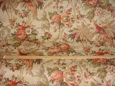 1-7/8 yards Lee Jofa Le Jardin des Singes in Beige - Monkey Bird of Paradise Luxury Linen Print Drapery Upholstery Fabric - Free Shipping