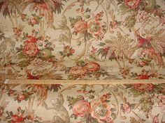 1-1/8 yards Lee Jofa Le Jardin des Singes in Beige - Monkey Bird of Paradise Luxury Linen Print Drapery Upholstery Fabric - Free Shipping