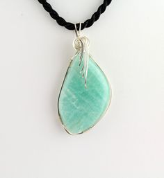 Amazonite Pendant. Listing 248839274 by Ptcreationsjewelry on Etsy