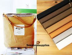 """Half Yard Kraft Paper Fabric,Craft,Imported From Germany,7 Kinds For Choice,Sewing,Plain 18"""" x 59"""" (45 x150cm) (G20) on Etsy, $8.80"""