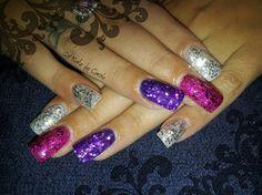 Glitter purple by winternikki from Nail Art Gallery
