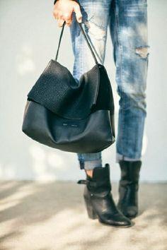 jeans. bag. boots.
