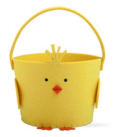 Yellow Chick Felt Basket