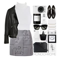 Monochrome / 77 by dddawn on Polyvore featuring Victoria, Victoria Beckham, 3.1 Phillip Lim, The Row, Yves Saint Laurent, Native Union, COVERGIRL, NARS Cosmetics, philosophy, Kiehl's and Byredo
