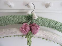 thistledown&HOPE on Folksy Wooden Coat Hangers, Padded Hangers, Diy Hangers, Coat Patterns, Knitting Patterns, Crochet Patterns, Crochet Coat, Knitted Coat, Crochet Gifts