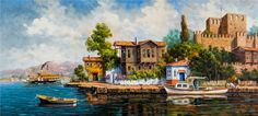 Turkey Art, Hobbies And Interests, Z Arts, Pour Painting, Traditional Art, Istanbul, Canvas Art, World, Illustration
