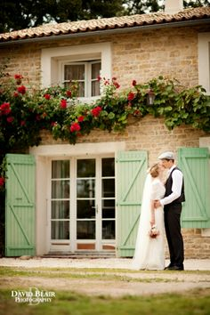 Shutters - Rustic French farmhouse wedding by David Blair Photography / French Wedding Style Blog