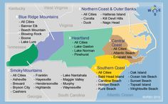 This site is great for any Carolinians or anyone that will be or is looking to travel to NC in the future for vacation. This site breaks down NC in regions and by vacation home rentals. South Carolina, North Carolina Cabins, Visit North Carolina, North Carolina Beaches, North Carolina Mountains, Carolina Girls, Nc Mountains, Blue Ridge Mountains, Appalachian Mountains