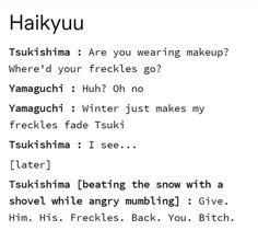 Kageyama X Hinata, Haikyuu Tsukishima, Haikyuu Funny, Haikyuu Fanart, Kagehina, Bokuto X Akaashi, Oikawa X Iwaizumi, Nishinoya, Kenma