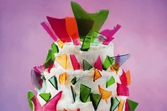 Lily Vanilli's Shattered Glass Cake