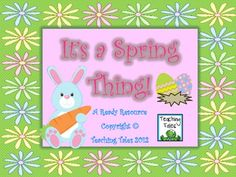 $8.00 Spring is here and what better way to celebrate than with some colorful springtime activities
