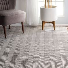 nuLOOM Handmade Flatweave Herringbone Chevron Navy Cotton Rug (5' x 8') | Overstock.com Shopping - The Best Deals on 5x8 - 6x9 Rugs
